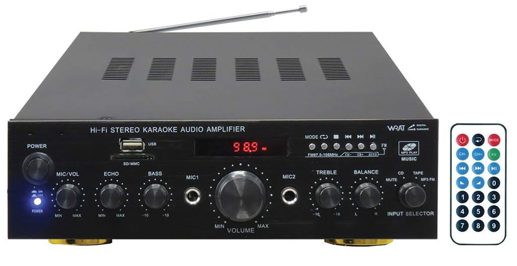KARMA PA 2380 - Amplificatore Stereo con Player Mp3