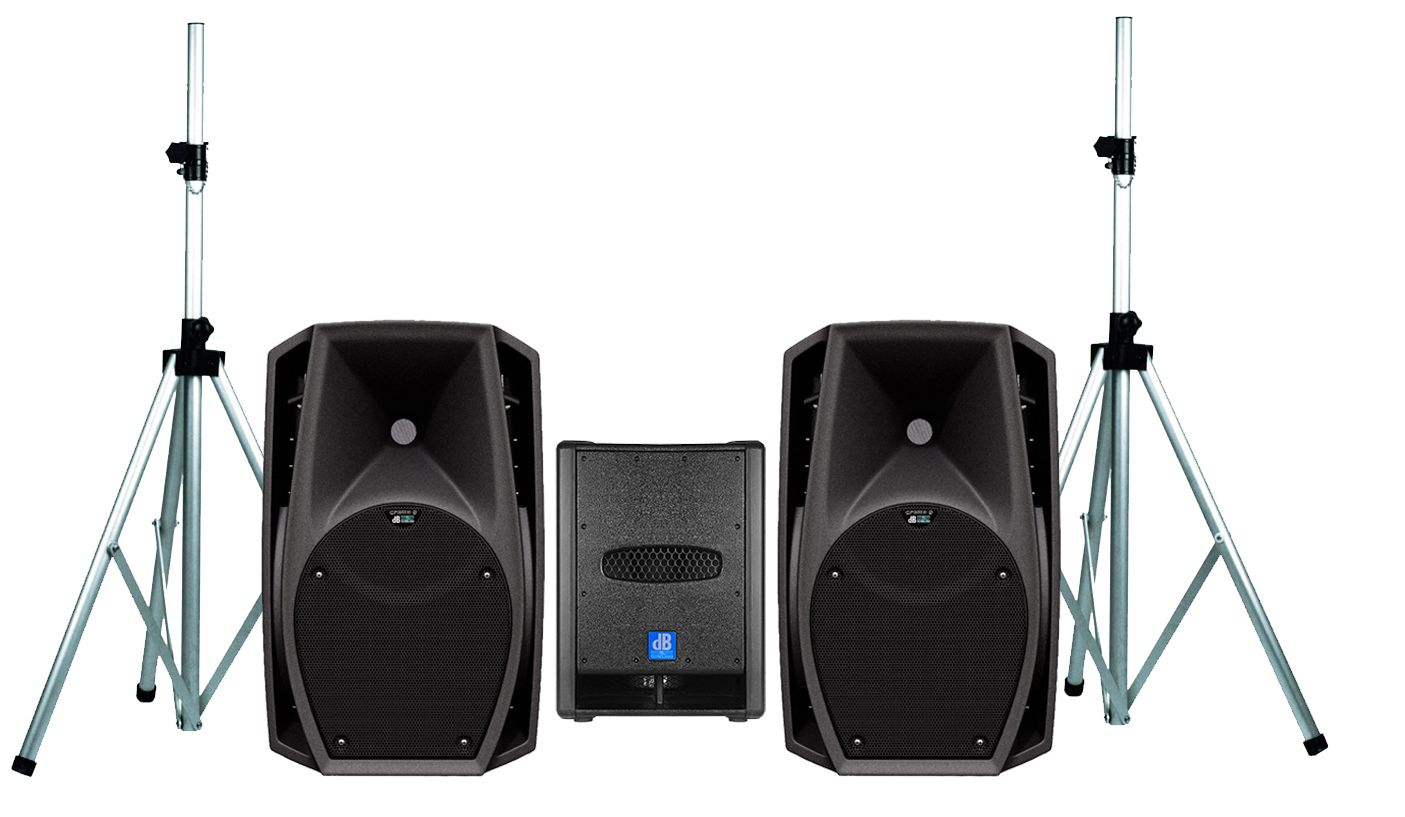 DB TECHNOLOGIES Sistema Audio Coppia CROMO 8+ / Subwoofer ...