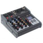 Soundsation MIOMIX 202M Mixer Passivo 4 Canali Media Player/BT/Eco Digitale