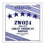 D'ADDARIO ZW024 - Singola per Acustica 85/15 Bronze (024)