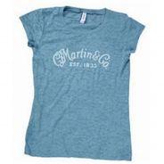 0 Martin & Co. - 18CW0021L T-Shirt LARGE - Ladies Burnt Out - Blue acciaio