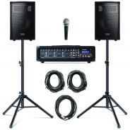 0 Alesis - ALESIS PA SYSTEM WITH STANDS