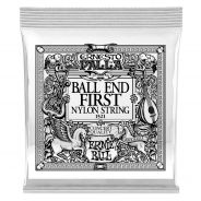 0 Ernie Ball - 1521 Ernesto Palla Black 1ª Ball End .028 - 6 Pezzi