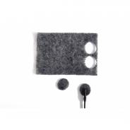 Rycote Undercovers, Grey - 30 Undercovers/30 Stickies Original