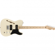 SQUIER Paranormal Carbronita Telecaster Thinline Maple Fingerboard Olympic White
