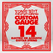 ERNIE BALL 1014 - Singola per Acustica o Elettrica Custom-Gauge (014)