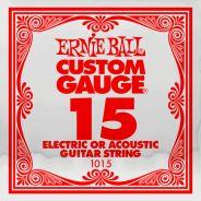 ERNIE BALL 1015 - Singola per Acustica o Elettrica Custom-Gauge (015)