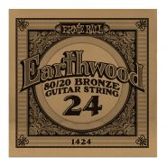 ERNIE BALL 1424 - Singola per Acustica Earthwood 80/20 Bronze (024)