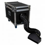 0 Briteq BT-H2FOG II Ultrasonic 1500W Low Fog Machine in Flight Case