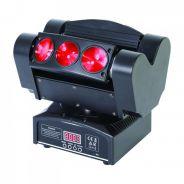 0 Ibiza QUAD6-FX Spider Light Effect 6x 10W LED - with Base