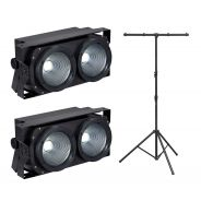 Soundsation 2 x LightBlaster 102 COB con Supporto