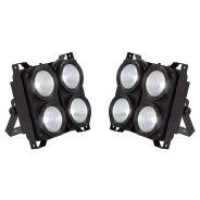 Soundsation 2 x LightBlaster 104 COB - Strobo LED 4x100W COB Bianco Caldo/Bianco Freddo