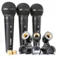 0 Vonyx VX1800S Dynamic Microphone set 3pcs in case