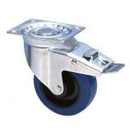 Guitel 37024 - Ruota Orientabile 100 mm con Ruota blu e Fermo
