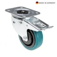 Tente 37038 - Swivel Castor 100 mm with petrol Wheel, brake and directional self-setting feature