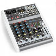 0 Vonyx VMM-K402 Music Mixer 4Ch/BT/Echo/USB Rec.