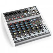 0 Vonyx VMM-K602 Music Mixer 6Ch/BT/Echo/USB Rec.
