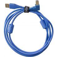 0 Udg U95004LB - ULTIMATE CAVO USB 2.0 A-B BLUE ANGLED 1M Cavo usb
