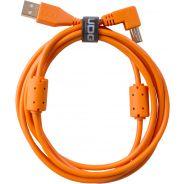 0 Udg U95004OR - ULTIMATE CAVO USB 2.0 A-B ORANGE ANGLED 1M