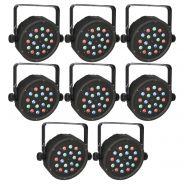 8 x Showtec Club Par 18/1 RGB - Club Par LED RGB