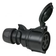 PCE - CEE 32A 400V 5p Plug Female - Nero, IP44