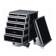 ROAD READY RRD16U1C - Case per Rack con 5 Casetti