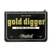 Radial Gold Digger - Switch 4in/1out per Microfono