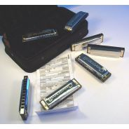 0 HOHNER - Set Armoniche Blues - Contiene 7 pz