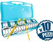 Angel AG / AX25N2 - 10 Metallofoni 25 Piastre Note Cromate per Didattica Scuole