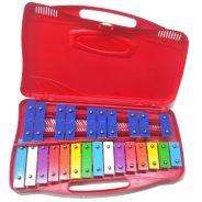 Alysee MT25-C-RD Metallofono Cromatico 25 Note Rosso