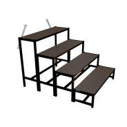 Bütec 500421003020 - Stairs, steel, 4-step to 100 cm height, + screen printing plate