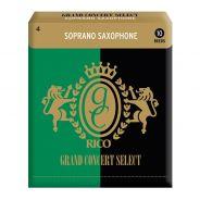 0 RICO - Ance per Sax Soprano Selezione Grand Concert, Misura 4.0, Confezione 10 pz