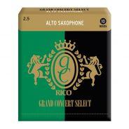 0 RICO - Ance per Sax Alto Selezione Grand Concert, Misura 2.5, Confezione 10 pz