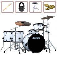 DDRum JMR522 White Batteria Acustica con Piatti e Accessori