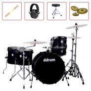 DDRum JMR522 Midnight Black Batteria Acustica con Piatti e Accessori