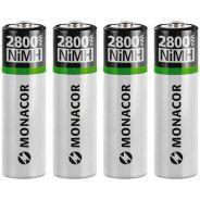 Batterie Stilo Ricaricabili AA al NiMH / Set da 4