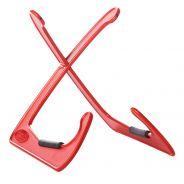 Bespeco Xanadur Rosso Supporto Chitarra Elettrica Acustica Classica Multiuso