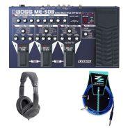 BOSS ME50B Pedaliera per Basso / Cuffia Monitor Professionale / Cavo Jack/Jack 3mt in Omaggio