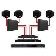 APART Impianto Audio da Parete Nero Dual Zone 360W