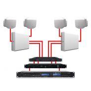APART Sistema Audio da Parete Bianco Dual Zone 360W