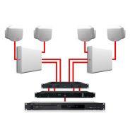 APART Impianto Audio da Parete Bianco Dual Zone 360W