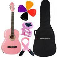 Chitarra Classica 4/4 Pink con Borsa Plettri Tracolla e Accordatore Inclusi
