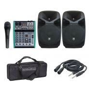 ZZIPP ZZPX15 (Coppia) con Mixer 4Ch/Microfono/Cavi/Borsa