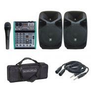 ZZIPP ZZPX10 (Coppia) con Mixer 4Ch/Microfono/Cavi/Borsa