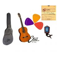 EKO CS10 - Set Chitarra classica 4/4, Accordatore, Custodia, Plettri e Corde
