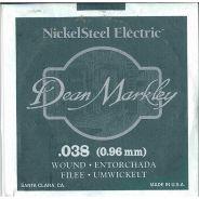 0 DEAN MARKLEY - Corda singola per Chitarra Elettrica Nickel Wound, .038