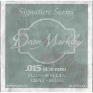 0 DEAN MARKLEY - Corda singola per Chitarra Elettrica Plain Steel, .015
