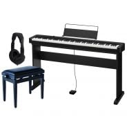 Casio CDP S100 Set - Pianoforte Digitale con Stand Panchetta e Cuffie