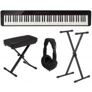Casio PX S1000 BK Pack - Pianoforte Digitale con Supporto Panca e Cuffie