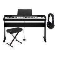 Casio Set CDP130 Nero Pianoforte 88 Tasti / Supporto / Panchetta / Cuffie